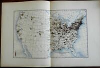 USA Manufacturing Product Values by sq. mile 1903 Bien vintage Info-Graphic map