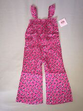 NEW JUICY COUTURE 12 18 MO PINK ROMPER WHITE HEARTS BLACK LONG PANTS CUFFED