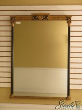28700: Friedman Brothers Vintage Regency Style Black & Gold Mirror