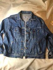 New listing Vintage Lee Riders Denim Jean Trucker Jacket Men Sz M Usa Made Stonewashed Blue