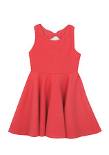 Rare Editions Girls SKATER Dress in Orange Size 6 New with Tags
