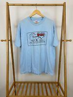 VTG 90s W4NC Forsyth Amateur Radio Club Single Stitch Blue Hanes T-Shirt XL