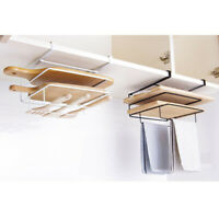 Under Shelf Mug Chopping Board Cupboard Kitchen Organiser Hanging Rack Holder