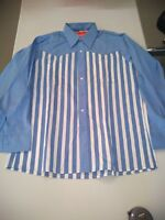 T-290 True Vintage Pinstripe Work Wear  Long Sleeve Shirt 16 USA