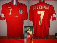 England Beckham S M L XL XXL World Cup 06 Shirt Jersey Football Soccer Umbro Top
