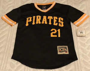 Roberto Clemente Pittsburgh Pirates Jersey Medium 10/12 Cooperstown Collection
