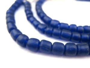 Cobalt Blue Java Glass Beads 5mm Indonesia Cylinder 24 Inch Strand