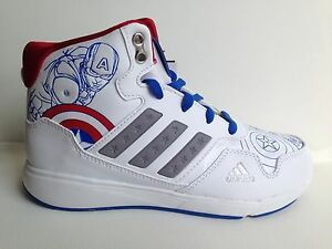 New Adidas DY Avengers Mid K YOUTH Sneakers B23898 Captain America Civil War
