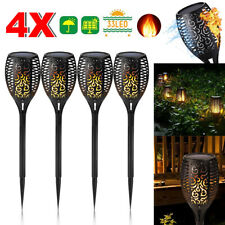 4 Pack Garden Solar Lights Flame Flickering Dancing LED Torch Lamp Outdoor AU