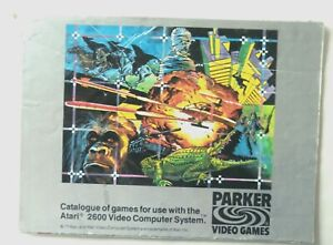 52787 Instruction Booklet Insert - Parker Video Game Catalogue - Atari 2600 / 78
