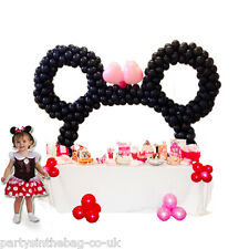 MINNIE THE MOUSE BIRTHDAY TABLE BALLOON ARCH