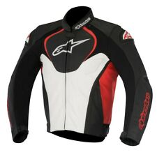 ALPINESTARS JAWS LEATHER JACKET BLACK/RED/WHITE 3101016-123 EURO 54