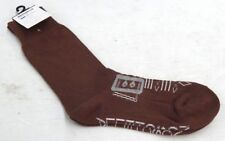 MOSCHELLA BUCKLE MENS FORMAL DRESS SOCKS PAIR CHOCOLATE BROWN SIZE 7 - 10