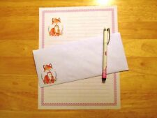 Fox Stationery Writing Set With Envelopes - Lined Stationary