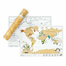World Original Scratch Map Travel Edition 420 X 300mm