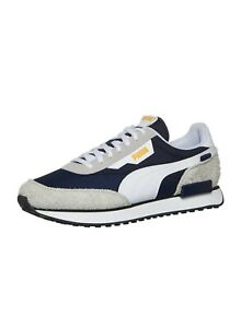 Brand New Men's Puma Future Rider sneakers, Size 7.5, Gray, Navy, Yellow