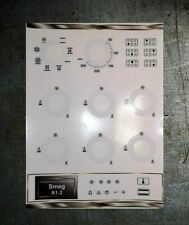 Smeg A1-2 range oven compatible panel fascia stickers, may suit other models.