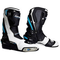Spada Curve Evo Waterproof Motorbike Motorcycle Boots- White/Blue/Black