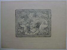 "gravure Lithographie d'Aristide MAILLOL.Tapisserie.""L'Epreuve"" Album d'Art 1895"