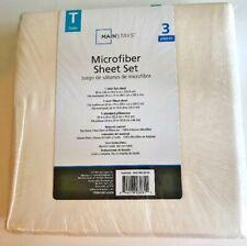 Mainstays Microfiber 3 Piece Beige Twin Sheets