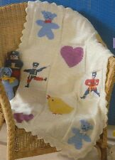 Baby Blanket, Cushion & Toy Teddy, Soldier, Duck. DK Knitting Pattern  666