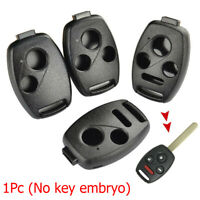 Fob Car Remote Key Shell Case 2/3/4 Buttons For Honda Accord Civic CR-V