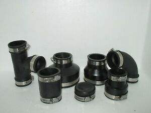 2.0 INCH RUBBER PIPE CONNECTORS / FITTINGS KOI POND