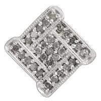 Kettenanhänger echt Silber 925 Sterlingsilber rhodiniert mit Diamanten Anhänger