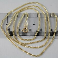 18K YELLOW GOLD CHAIN MINI GOURMETTE LINK 1 MM, 17.70 INCHES MADE IN ITALY