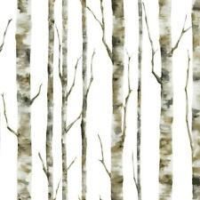 Birch Trees / Tree on Soft White Background York Sure Strip Wallpaper BS5334