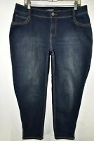 Lane Bryant Ankle Genius Fit Stretch Jeans Womens Size 16 Blue Meas. 35x27