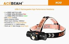 ACEBEAM H30 XHP70.2 4000 Lumens RED + CREE XPE2-G3 530nm GREEN