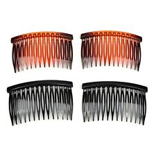 4pc/ Gloss Plastic Hair Comb Soft Gentle Styling Grip Pin Hairpin Slide Barrette