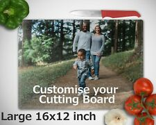 Personalised Custom Glass Cutting Board Photo Printed for Chopping Family Gift