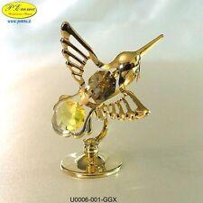 HUMMINGBIRD GOLD CRYSTOCRAFT SWAROVSKI ELEMENTS