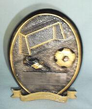 soccer self standing oval resin trophy award RFOS135