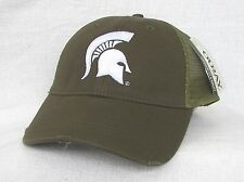 *MICHIGAN STATE UNIVERSITY SPARTANS TRUCKER Distressed Ball cap hat OURAY sample