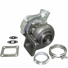 """T4 T70 Turbo charger 0.81 A/R Turbine For Mustang Supra RX7 Civic +3"""" V-Band KIT"""