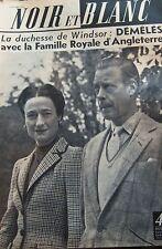 ANGLETERRE DUCHESSE de WINDSOR en COUVERTURE de NOIR et BLANC No 556 de 1955