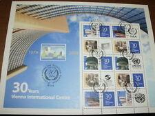 UNO Wien, 607-610 C Kleinbogen, gestempelt, seltene Zähnung