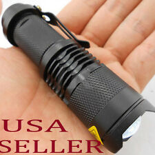Mini CREE Q5 LED Flashlight 7W 300LM Torch Adjustable Zoom Light High/Low/Strobe