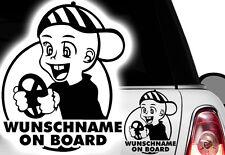 1x Aufkleber WUNSCHNAME ON BOARD Sticker Hangover Baby Auto Kind fährt mit FUNu