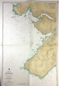 Vtg 1972 BROOKS BAY NAUTICAL CHART Canada BRITISH COLUMBIA Vancouver Island MAP