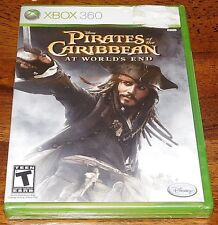 New Sealed XBOX 360 SYSTEM GAME Disney Pirates of the Caribbean At Worlds End