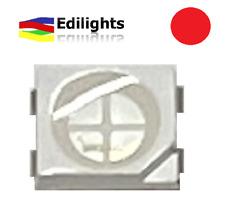 10 LED SMD PLCC4 3528 4 PIN QUADRO STRUMENTI AUTO ROSSO RED 620-625NM 2V