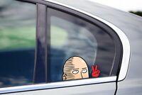 One Punch Man Peace Peeker Peeking Window Vinyl Decal Anime Wanpanman JDM