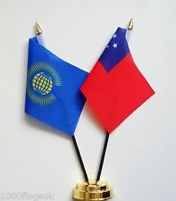 Commonwealth & Samoa Double Friendship Table Flag Set