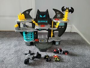 Imaginext Batman and Batcave Playset And Figures Bundle - Bike, Robin, Headset