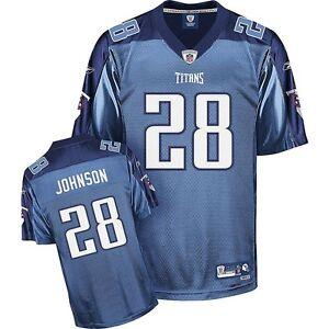 NFL Jersey Tennessee Titans Chris Johnson 28 Blue Football Premier Jersey