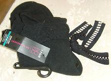 Women's socks black lolita ribbon tie No Boundaries new nwt black sexy chic fall